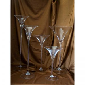 Svijećnjak martini čaša (više dimenzija)