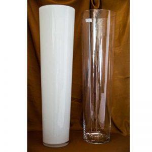Vaza (bijela i prozirna) 70cm