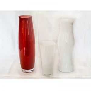 Vaza crvena/opal bijela (više dimenzija)